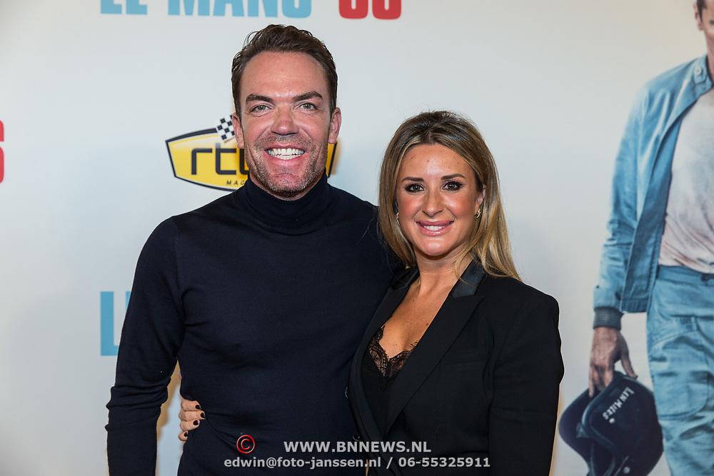 NLD/Amsterdam/20191113 - Filmpremiere Le Mans '66, Robert Doornbos en partner Chantal Bles