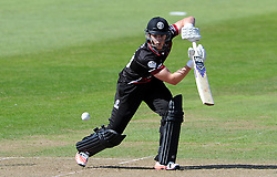 Somerset's Tom Abell drives the ball - Photo mandatory by-line: Harry Trump/JMP - Mobile: 07966 386802 - 31/07/15 - SPORT - CRICKET - Somerset v Worcestershire- Royal London One Day Cup - The County Ground, Taunton, England.