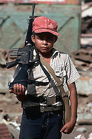 February  1983, El Salvador --- Portrait of Young Salvadoran Guerrilla --- Image by © Owen Franken/CORBIS - Photograph by Owen Franken