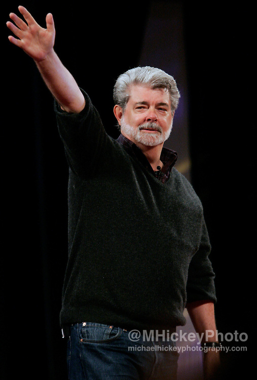 Star Wars creator George Lucas appeared on stage at the Star Wars Celebration III convention in Indianapolis, IN. Photo by Michael Hickey