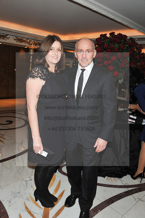 BARRY McGUIGAN and his wife SANDRA at the 22nd Cartier Racing Awards held at The Dorchester, Park Lane, London on 13th November 2012.
