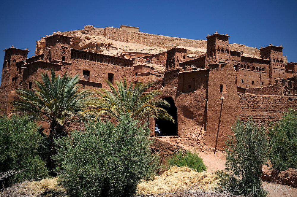 Morocco, Ait Benhaddou. Old kasbah.