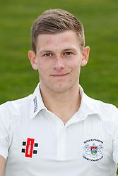 Tom Hampton of Gloucestershire Cricket poses for a headshot in the County Championship kit - Mandatory byline: Rogan Thomson/JMP - 04/04/2016 - CRICKET - Bristol County Ground - Bristol, England - Gloucestershire County Cricket Club Media Day.