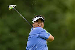 May 30, 2019 - Dublin, OH, U.S. - DUBLIN, OH - MAY 30: Kiradech Aphibarnrat of Thailand plays his shot from the 18th tee during the Memorial Tournament presented by Nationwide at Muirfield Village Golf Club on May 30, 2018 in Dublin, Ohio. (Photo by Adam Lacy/Icon Sportswire) (Credit Image: © Adam Lacy/Icon SMI via ZUMA Press)