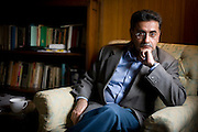 Dr. Ajai Sahni, a terrorism expert and the Executive Director of the Institute for Conflict Management, in his office in New Delhi, days after the recent terrorist attack on some of Mumbai's most known landmarks, on 30th November 2008.  Photo by Suzanne Lee for The National.