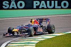 O piloto australiano Mark Wbber durante a primeira volta do Grande Prémio do Brasil de Fórmula 1, em Interlagos, São Paulo. FOTO: Jefferson Bernardes/Preview.com