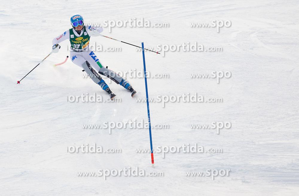 "CURTONI Irene (ITA) competes during 2nd Run of FIS Alpine Ski World Cup 7th Ladies' Slalom race named ""49th Golden Fox 2013"", on January 27, 2013 in Mariborsko Pohorje, Maribor, Slovenia. (Photo By Vid Ponikvar / Sportida.com)"
