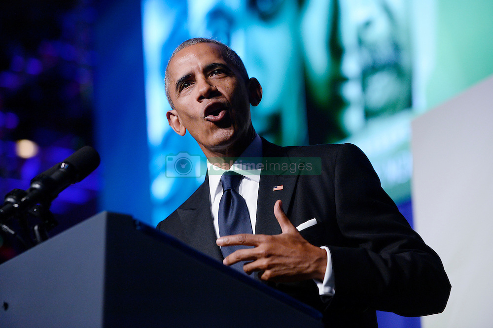 U.S. President Barack Obama speaks to the Congressional Black Caucus Foundation's 46th Annual Legislative Conference Phoenix Awards Dinner, September 17 2016, in Washington, DC, USA. Photo by Olivier Douliery/Pool/ABACAPRESS.COM