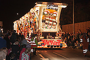 Jackpot by Griffens Carnival Club in 2011. Bridgwater Carnival is an annual event to raise money for local charities. It is widely reputed to be the largest illuminated carnival in the world.
