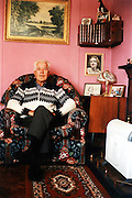 Ted (Edward James Lawson) was a lovely man. I used to spend a lot of time in his prefab. He had a pretty one with timber cladded exterior walls. Each room was painted with bright colours: the kitchen was blue, the living room pink, the bathroom orange... I particularly loved the black and white portrait of her wife painted over with watercolours. He was offered a prefab in the late 80s as his disabled wife couldn't manage stairs anymore. They both loved the place straight away. When she passed away, he decided to stay. Ted died in 2006, one year after I last saw him. Howard, the TMO (Excalibur Tenants Management Office) manager told me he was very distress at the end, mainly because of what was going to happen to the prefabs.