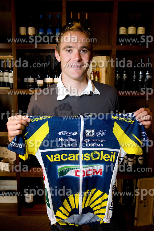 Slovenian rider  Borut Bozic of Vacansoleil at press conference before cycling race Tour de France 2011, on June 27, 2011, in Crnuce, Ljubljana, Slovenia. (Photo by Vid Ponikvar / Sportida)