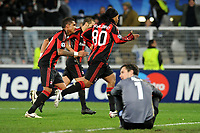 FOOTBALL - CHAMPIONS LEAGUE 2010/2011 - GROUP STAGE - GROUP G - AJ AUXERRE v MILAN AC - 23/11/2010 - PHOTO JEAN MARIE HERVIO / DPPI -  JOY RONALDINHO (MIL) AFTER HIS GOAL