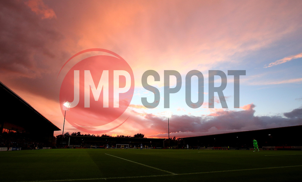 The sunsets over The Pirelli Stadium as Burton Albion take on Birmingham City in the Sky Bet Championship - Mandatory by-line: Robbie Stephenson/JMP - 18/08/2017 - FOOTBALL - Pirelli Stadium - Burton upon Trent, England - Burton Albion v Birmingham City - Sky Bet Championship