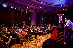 HONG KONG, CHINA - Tuesday, July 18, 2017: Media during a press conference at the Grand Hyatt Hotel Hong Kong ahead of the Premier League Asia Trophy 2017. (Pic by David Rawcliffe/Propaganda)