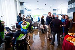 Press conference before departure on Paralympic Games in Pyeongchang, on February 28, 2018 in Triglav Zavarovalnica, Ljubljana, Slovenia. Photo by Ziga Zupan / Sportida