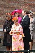 His highness prince Pieter-Christiaan of Oranje Nassau, of Vollenhoven and Ms drs. A.T. van Eijk get married  in the Great or St Jeroens Church in Noordwijk. <br /> <br /> <br /> Zijne Hoogheid Prins Pieter-Christiaan van Oranje-Nassau, van Vollenhoven en mevrouw drs. A.T. van Eijk treden in het (kerkelijk) huwelijk in de Grote St. Jeroenskerk in Noordwijk<br /> <br /> On the photo/Op de foto:<br /> <br /> <br /> <br /> De familie verlaat de kerk.<br /> <br /> The Royal family leaves the church