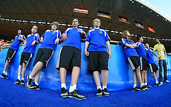 Volunteers before the UEFA EURO 2008 Quarter-Final soccer match between Croatia and Turkey at Ernst-Happel Stadium, on June 20,2008, in Wien, Austria. Turkey won after penalty shots. (Photo by Vid Ponikvar / Sportal Images)
