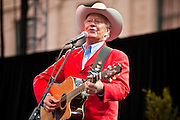 14 FEBRUARY 2012 - PHOENIX, AZ:   Cowboy singer and Arizona native REX ALLEN JR performs a birthday song to the state of Arizona at the State Capitol in Phoenix, Feb 14. Arizona's statehood day is February 14 and this year Arizona marked 100 years of statehood. It was the last state in the 48 contiguous United States.   PHOTO BY JACK KURTZ