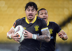 Wellington's Ben Lam trybound against Canterbury in the Mitre 10 Rugby match at Westpac Stadium, Wellington, New Zealand, Sunday September 17,, 2017. Credit:SNPA / Ross Setford  **NO ARCHIVING**