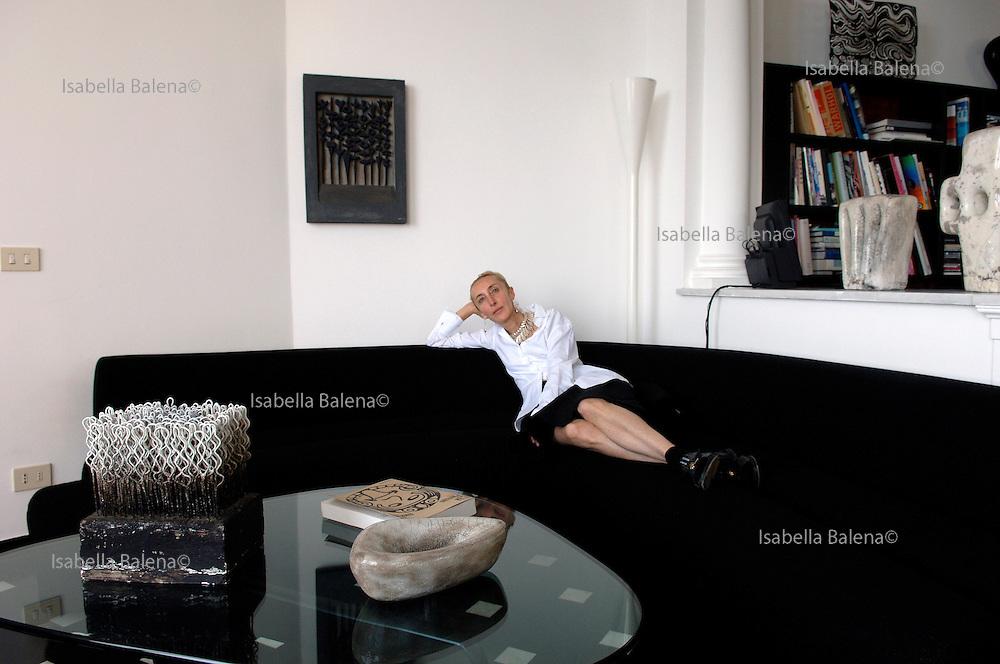 Carla Sozzani in her home in Portofino.  Carla Sozzani is the visionary proprietor of 10 Corso Como, the fashion boutique/art gallery/ music store/ restaurant and B&B she opened in Milan in 1991. Portofino, Italy, on friday june 22, 2007