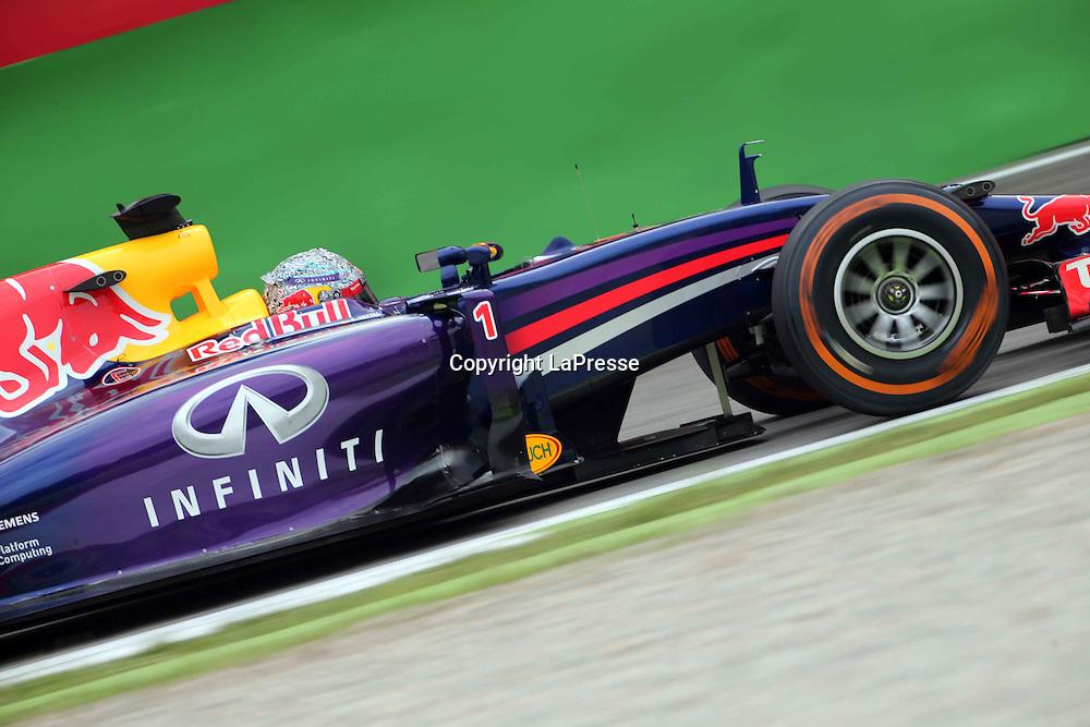 &copy; Photo4 / LaPresse<br /> 05/09/2014 Monza, Italy<br /> Sport <br /> Grand Prix Formula One Italy 2014<br /> In the pic: Sebastian Vettel (GER), Red Bull Racing, RB10