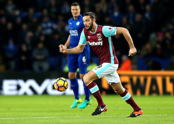 Andy Carroll of West Ham United runs with the ball - Mandatory by-line: Robbie Stephenson/JMP - 31/12/2016 - FOOTBALL - King Power Stadium - Leicester, England - Leicester City v West Ham United - Premier League