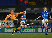 Photo: Ashley Pickering.<br /> Ipswich Town v Wolverhampton Wanderers. Coca Cola Championship. 20/02/2007.<br /> Michael Kightly (L) of Wolves fires in a shot