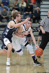 19 January 2018: Ridgeview Mustangs v El Paso - Gridley (EP-G) Titans. IHSA Boys Basketball game during the McLean County Tournament at Shirk Center in Bloomington Illinois