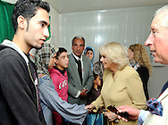 "PRINCE CHARLES AND CAMIILA, DUCHESS OF CORNWALL.visit the King Abdullah Camp for refugees from Syria, Jordan_13/03/2013.The Royal couple are on a tour of four Middle Eastern countries..Mandatory credit photo:©DiasImages/NEWSPIX INTERNATIONAL..**ALL FEES PAYABLE TO: ""NEWSPIX INTERNATIONAL""**..PHOTO CREDIT MANDATORY!!: NEWSPIX INTERNATIONAL(Failure to credit will incur a surcharge of 100% of reproduction fees)..IMMEDIATE CONFIRMATION OF USAGE REQUIRED:.Newspix International, 31 Chinnery Hill, Bishop's Stortford, ENGLAND CM23 3PS.Tel:+441279 324672  ; Fax: +441279656877.Mobile:  0777568 1153.e-mail: info@newspixinternational.co.uk"