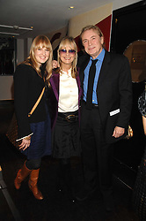 Left to right, CARLY WITNEY, her mother TWIGGY LAWSON and LEIGH LAWSON at the launch party of Lisa Hoffman's new bath and shower range, held at Harvey Nichols, Knightsbridge, London on 23rd October 2007. <br />