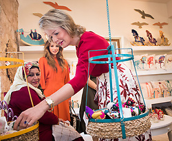 October 25, 2016 - Amman, JORDAN - Queen Mathilde of Belgium pictured at a visit to the Jordan River Foundation showroom on the third day of a humanitarian work visit of the Belgian Queen and the Belgian Federal Minister of Cooperation Development to Jordan, on Tuesday 25 October 2016, in Amman, Jordan. BELGA PHOTO BENOIT DOPPAGNE (Credit Image: © Benoit Doppagne/Belga via ZUMA Press)
