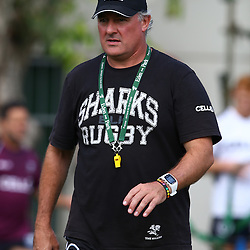 DURBAN, SOUTH AFRICA, 28 January 2016 -  Gary Gold (Sharks Director of Rugby)  during The Cell C Sharks Pre Season training for the 2016 Super Rugby Season at Growthpoint Kings Park in Durban, South Africa. (Photo by Steve Haag)<br /> images for social media must have consent from Steve Haag