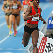 MONTANO - 13USA, Des Moines, Ia.  - Alysia Montano took the first quarter out hard then held on for the win in the 800.  Photo by David Peterson