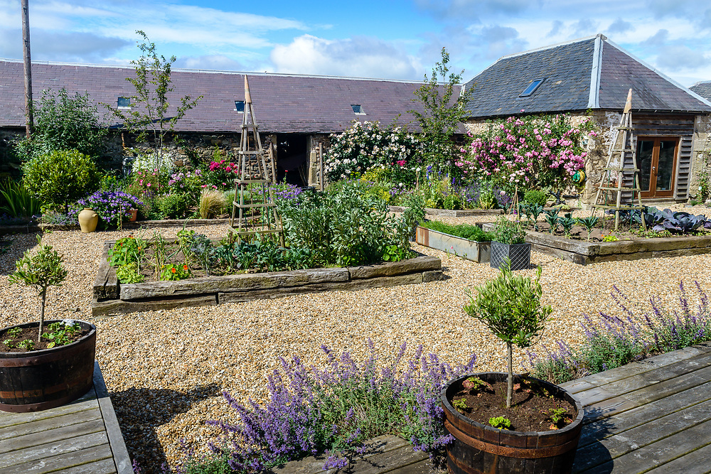 The garden of Ladyrig Stables, Heiton, Nr Kelso