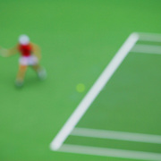 Abstract Impressions of Sport.Justine Henin, Tennis, Sydney