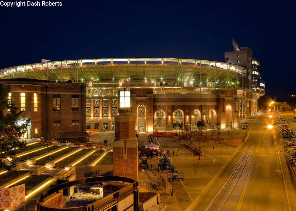 HDR photograph of Neyland Stadium renovations and new beacon on campus at the University of Tennessee in Knoxville.