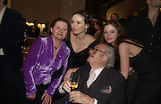 "PENNY MORTIMER, EMILY MORTIMER, JOHN MORTIMER AND ROSIE MORTIMER,  The after show party following the UK Premiere of ""Match Point,"" at Asprey, New Bond st. London.   December 18 2005 ,  ONE TIME USE ONLY - DO NOT ARCHIVE  © Copyright Photograph by Dafydd Jones 66 Stockwell Park Rd. London SW9 0DA Tel 020 7733 0108 www.dafjones.com"