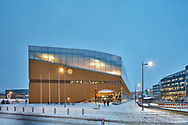 Helsinki Central Library Oodi,Finland, The library is situated in the Töölönlahti. Designed by ALA Architects