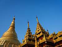 YANGON, MYANMAR - CIRCA DECEMBER 2017: Shwedagon Pagoda in Yangon