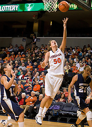 Virginia forward Chelsea Shine (50) shoots against MU.  The Virginia Cavaliers women's basketball team defeated the Monmouth Hawks 71-45 at the John Paul Jones Arena in Charlottesville, VA on December 18, 2008.