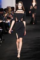 Mackenzie Drazan walks down runway for F2012 Prabal Gurung's collection in Mercedes Benz fashion week in New York on Feb 10, 2012 NYC