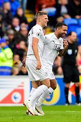 Johann Gudmundsson of Burnley celebrates scoring his sides first goal of the game - Mandatory by-line: Ryan Hiscott/JMP - 30/09/2018 -  FOOTBALL - Cardiff City Stadium - Cardiff, Wales -  Cardiff City v Burnley - Premier League