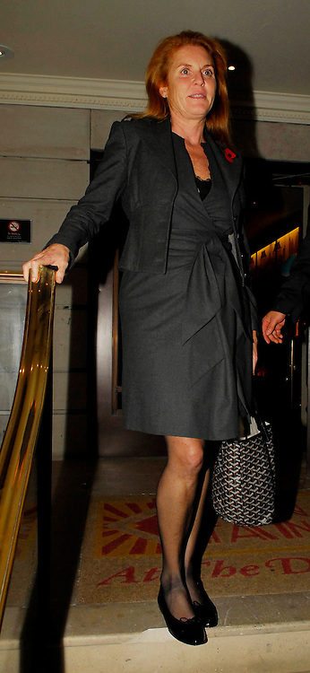 29.10.2007. LONDON<br /> <br /> A VERY DRUNK AND BLEARY EYED SARAH FERGUSON LEAVING CHINA TANGS RESTAURANT AT THE DORCHESTER HOTEL IN MAYFAIR, LONDON, UK.<br /> <br /> BYLINE: EDBIMAGEARCHIVE.CO.UK<br /> <br /> *THIS IMAGE IS STRICTLY FOR UK NEWSPAPERS AND MAGAZINES ONLY*<br /> *FOR WORLD WIDE SALES AND WEB USE PLEASE CONTACT EDBIMAGEARCHIVE - 0208 954 5968*