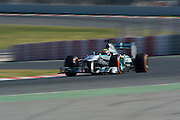 February 20, 2013 - Barcelona Spain. Lewis Hamilton, Mercedes GP Petronas F1 Team  during pre-season testing from Circuit de Catalunya.