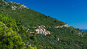 The hillside village of Maranovici, Mljet Island, Dalmatian Coast, Croatia
