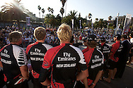 SPAIN, Barcelona, AUDI MedCup, 25th July 2010,  Camper Regatta - Conde de Godo Trophy, Prizegiving ceromony, Emirates Team New Zealand.