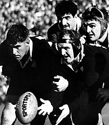 Colin Meads, Wilson Whineray and Nev MacEwan during the 1961 test series between NZ and France.