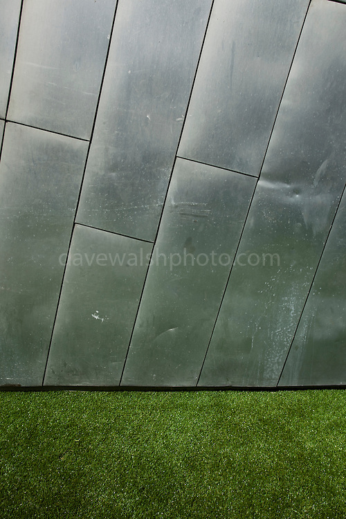 Astroturf - fake grass, and steel. Federation Square, Melbourne