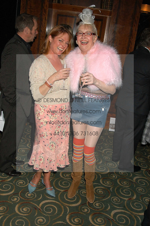 Left to right, Former Blue Peter presenter JANET ELLIS and actress SU POLLARD at a party to celebrate the publication of 'Next To You' - Caron's Courage remembered by her mother Gloria Hunniford held on Caron's birthday at The Hilton Park Lane, London on 5th Octobe 2005.<br />