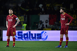 February 23, 2019 - Frosinone, Italia - Foto Alfredo Falcone - LaPresse.23/02/2019 Frosinone ( Italia).Sport Calcio.Frosinone - Roma.Campionato di Calcio Serie A Tim 2018 2019 - Stadio Benito Stirpe di Frosinone.Nella foto:de rossi..Photo Alfredo Falcone - LaPresse.23/02/2019 Frosinone (Italy).Sport Soccer.Frosinone - Roma.Italian Football Championship League A Tim 2018 2019 - Stadium Benito Stirpe of Frosinone.In the pic:de rossi (Credit Image: © Alfredo Falcone - Lapresse.&Quot/Lapresse via ZUMA Press)